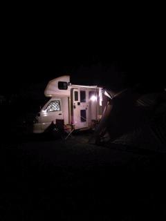 ワンコと初キャンプ